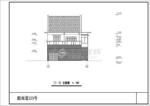 复式小别墅建筑设计图纸-图1