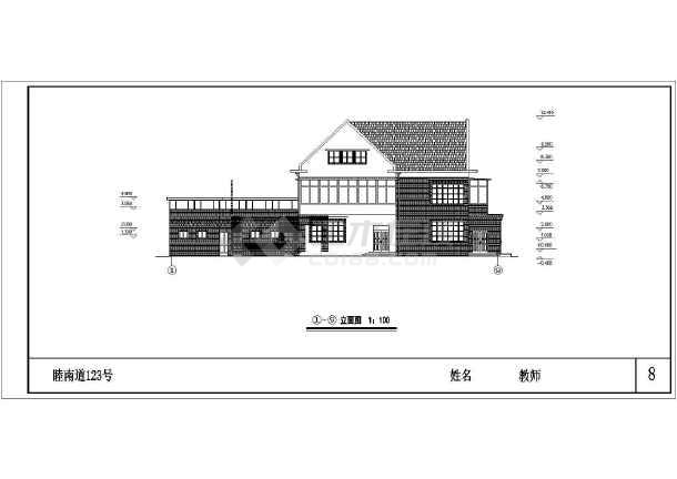 复式小别墅建筑设计图纸-图2