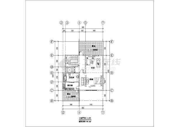 简约小别墅建筑设计施工图-图1