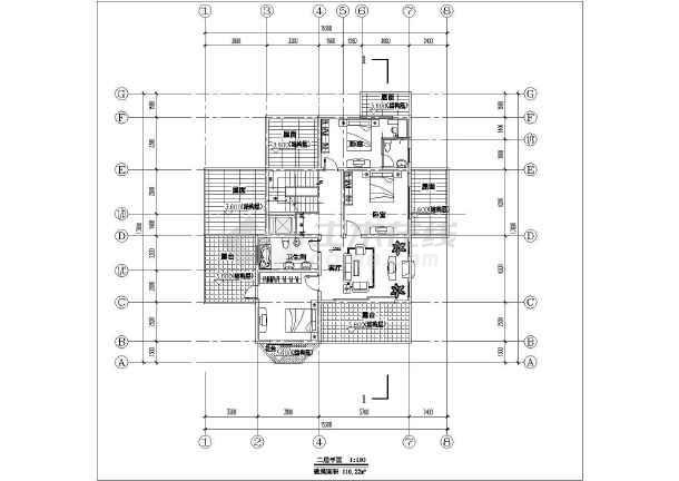 简约小别墅建筑设计施工图-图2