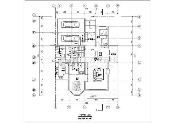 简约小别墅建筑设计施工图-图3