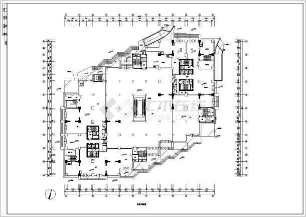 某大型商场建筑设计平面CAD施工图-图1