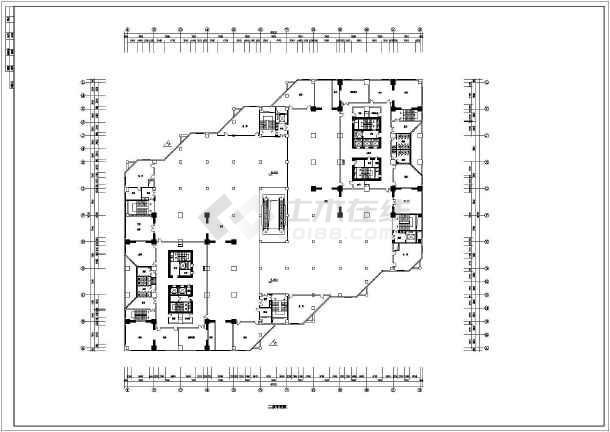 某大型商场建筑设计平面CAD施工图-图2