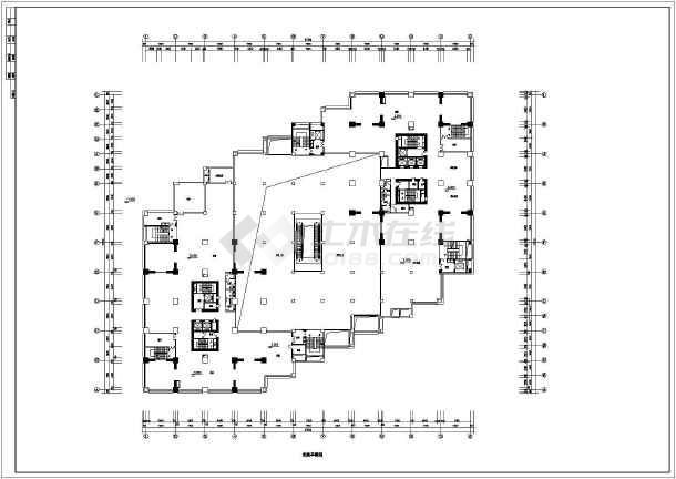 某大型商场建筑设计平面CAD施工图-图3