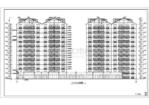 某高层住宅楼建筑设计方案图-图3