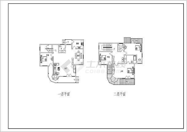 某多层小别墅建筑设计户型图-图1