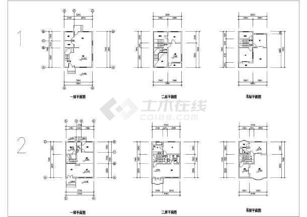 某多层小别墅建筑设计户型图-图2