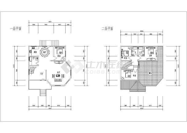 某多层小别墅建筑设计户型图-图3