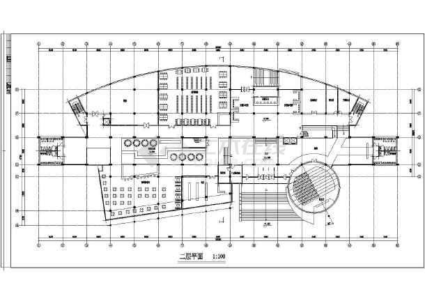 某图书信息中心规划设计cad方案图-图1