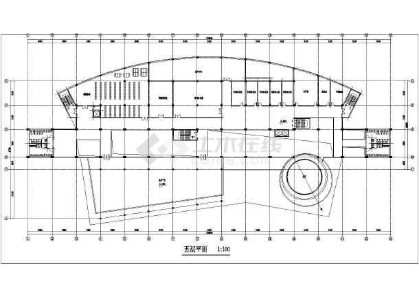 某图书信息中心规划设计cad方案图-图3