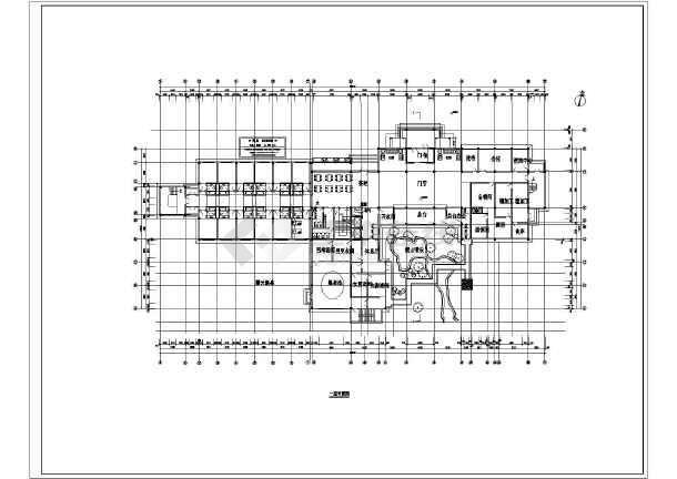 温泉度假别墅完整建筑设计图-图1