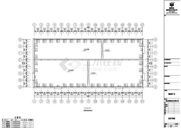 详细的一套钢结构cad施工图(共16张)-图3