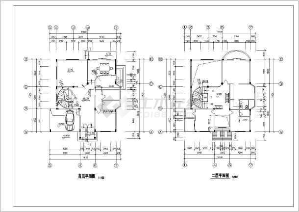 某独立别墅建筑设计施工图-图2