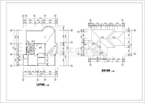 某独立别墅建筑设计施工图-图3