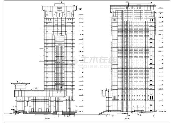 某银行办公大楼建筑设计方案CAD图-图2
