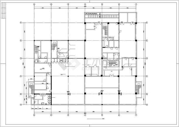 某银行办公大楼建筑设计方案CAD图-图3