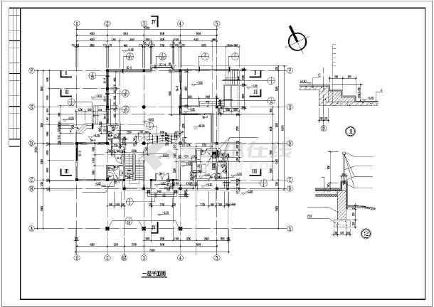 某小区小别墅建筑设计图纸-图1