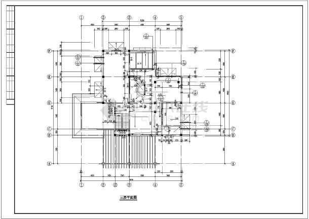 某小区小别墅建筑设计图纸-图2
