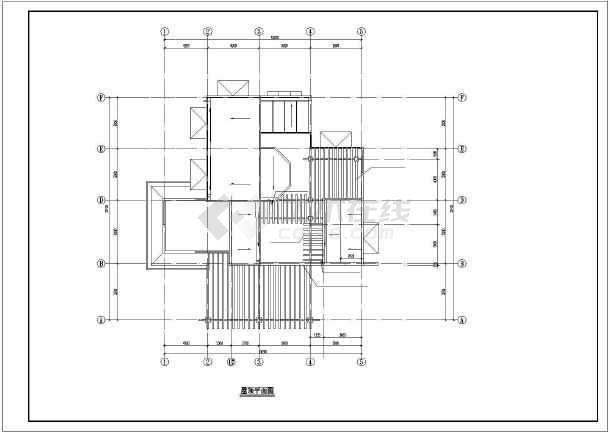 某小区小别墅建筑设计图纸-图3