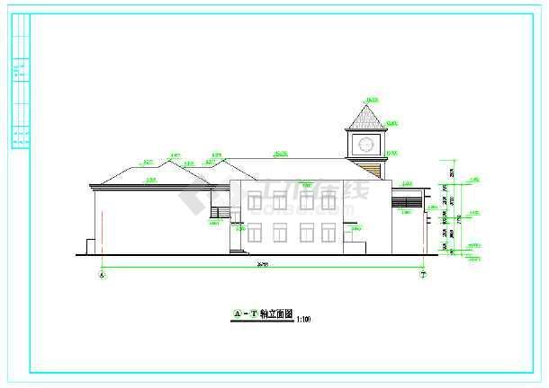 幼儿园设计[平面,立面,总图,效果图}-图3