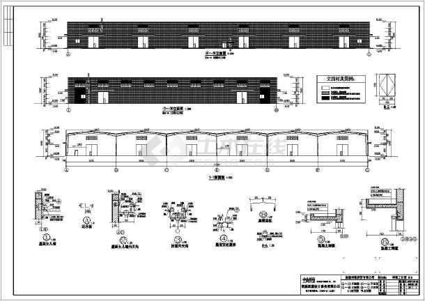 某地公司钢结构厂房CAD图纸-图二