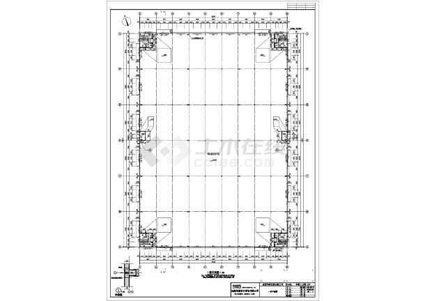 某地公司钢结构厂房CAD图纸-图2