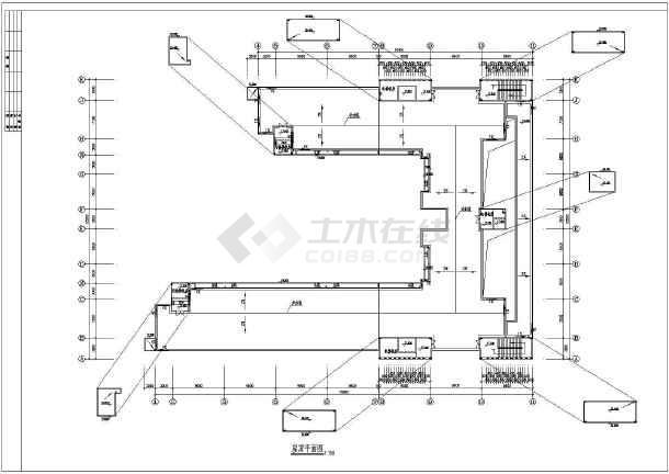 某四层医院病房楼建筑设计方案CAD图-图1