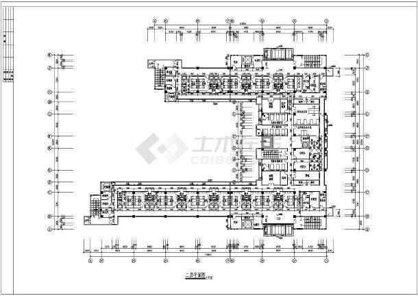 某四层医院病房楼建筑设计方案CAD图-图2