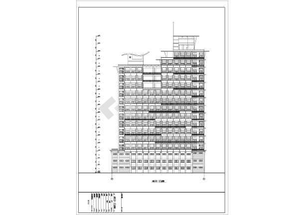 高层商住楼建筑设计CAD详细图-图1