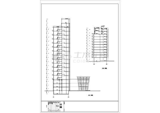 高层商住楼建筑设计CAD详细图-图2