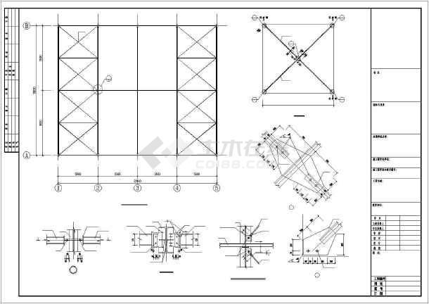 门式刚架钢结构雨篷施工图-图2