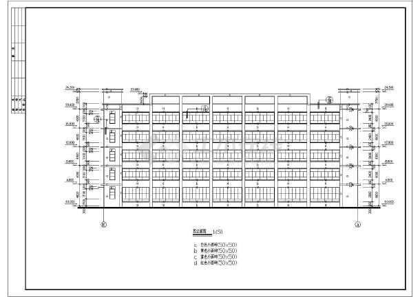 某地多层厂房建筑施工图-图3