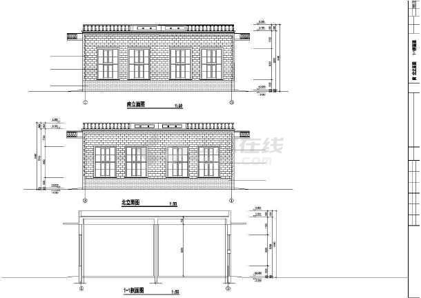 某医院制氧站建筑设计CAD方案图-图1