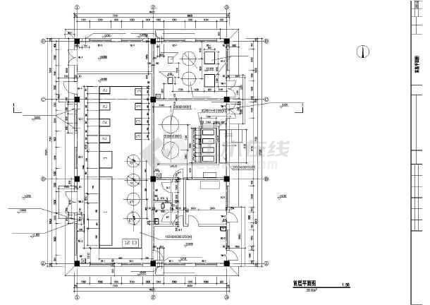 某医院制氧站建筑设计CAD方案图-图2
