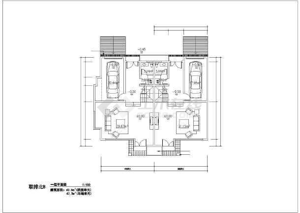 216平米别墅建筑设计施工图-图1