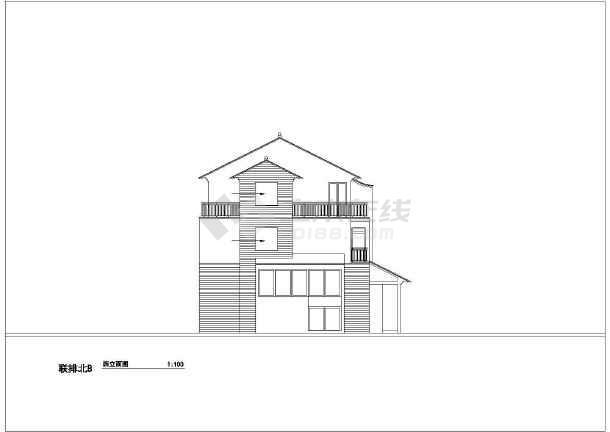 216平米别墅建筑设计施工图-图3