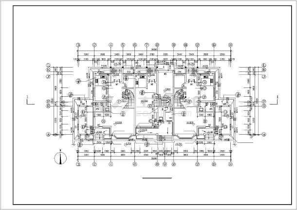 某花园小区别墅建筑设计施工图-图1