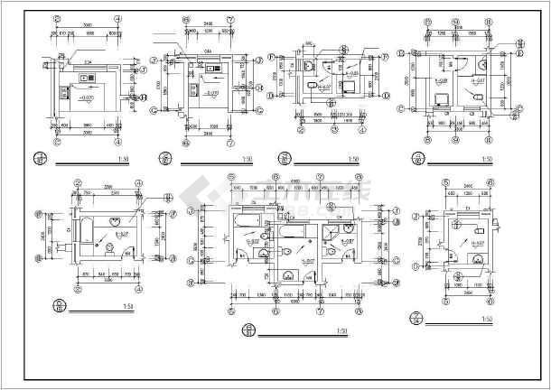 某花园小区别墅建筑设计施工图-图2