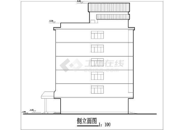 某住宅楼院内高层宾馆建筑设计方案CAD图-图1