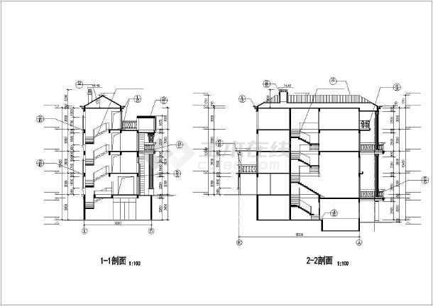 金湖山庄E5别墅建筑图纸-图1