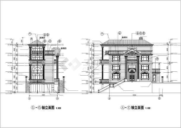 金湖山庄E5别墅建筑图纸-图2