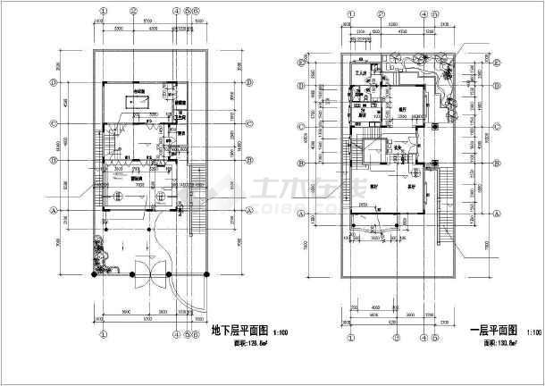 金湖山庄E5别墅建筑图纸-图3