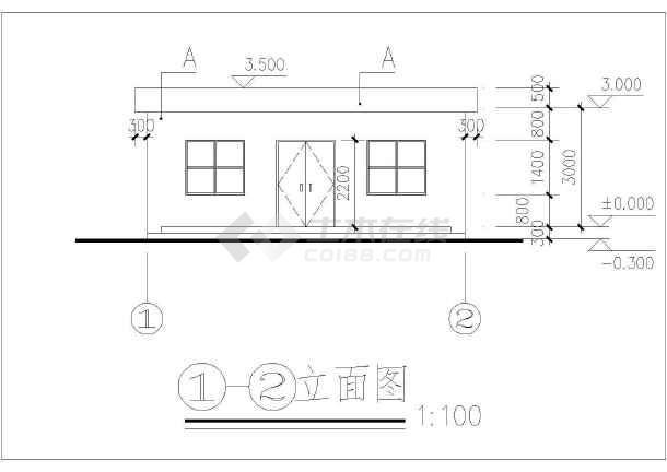 某四层医院后勤仓库建筑设计方案图-图1