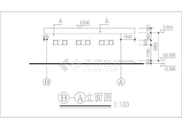 某四层医院后勤仓库建筑设计方案图-图3