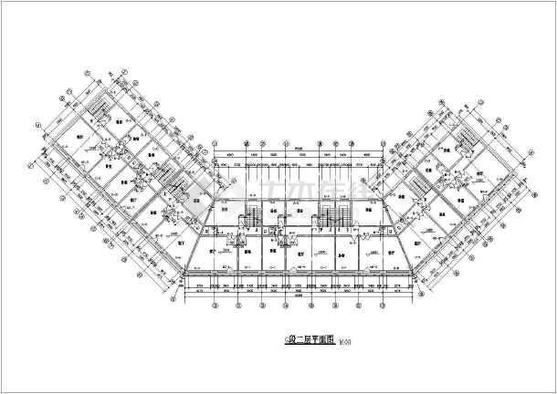 某地仿古街建筑施工图(含设计说明)-图2