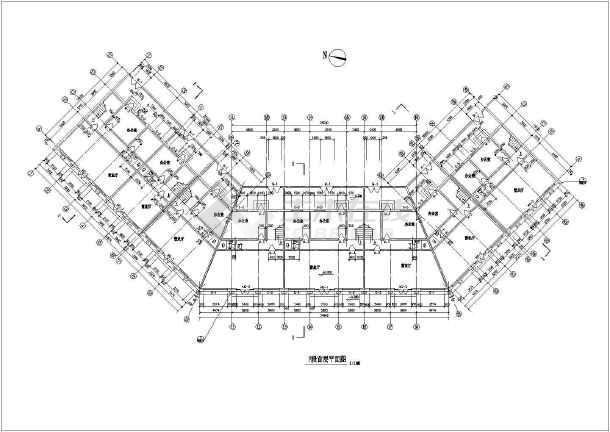 某地仿古街建筑施工图(含设计说明)-图3