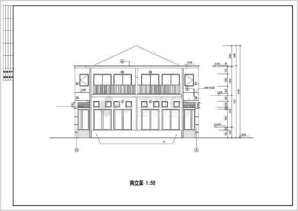 联体二层别墅建筑设计施工图-图1