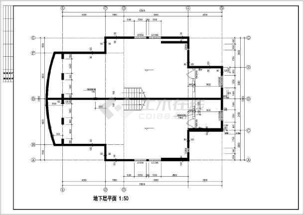 联体二层别墅建筑设计施工图-图2