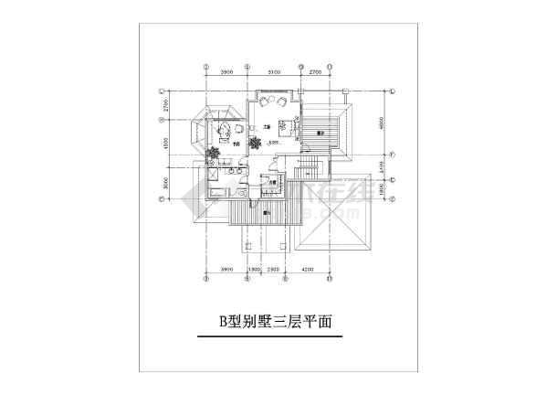 精美别墅建筑设计施工图-图2