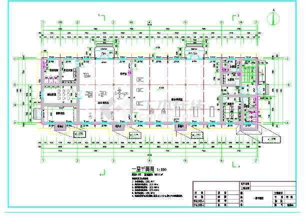 点击查看某地靶场建筑设计施工图第1张大图